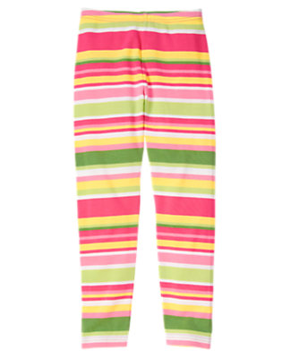 Girls Green Tea Stripe Stripe Legging by Gymboree
