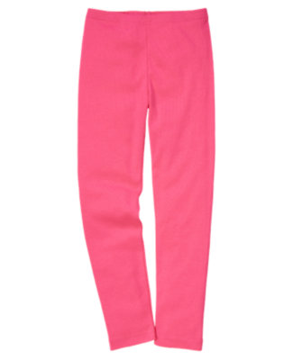 Girls Tulip Pink Legging by Gymboree
