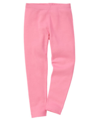 Girls Hydrangea Pink Legging by Gymboree