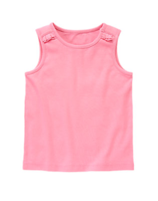 Hydrangea Pink Basic Tank Top by Gymboree
