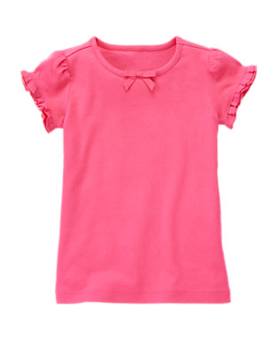 Tulip Pink Ruffle Sleeve Tee by Gymboree