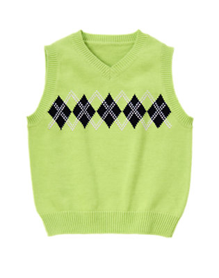 Mint Green Argyle Sweater Vest by Gymboree