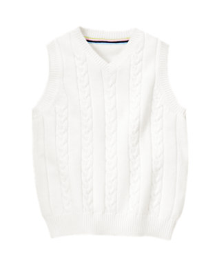 White Cable Sweater Vest by Gymboree