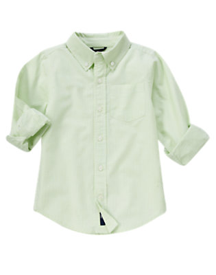 Mint Green Mini Check Checked Shirt by Gymboree