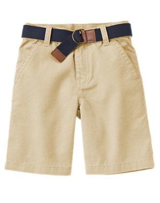 Boys Khaki Belted Short by Gymboree