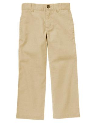 Khaki Linen Blend Dress Pant by Gymboree
