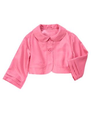 Peony Pink Duppioni Crop Jacket by Gymboree