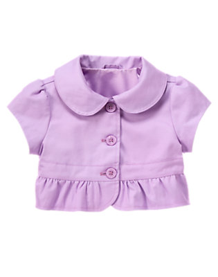 Girls Purple Posy Ruffle Crop Jacket by Gymboree