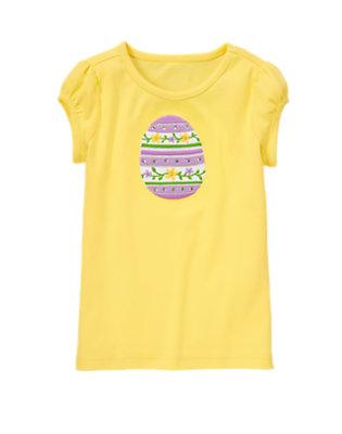 Daffodil Yellow Gem Daffodil Easter Egg Tee by Gymboree
