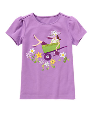 Violet Purple Gem Sequin Garden Girl Tee by Gymboree