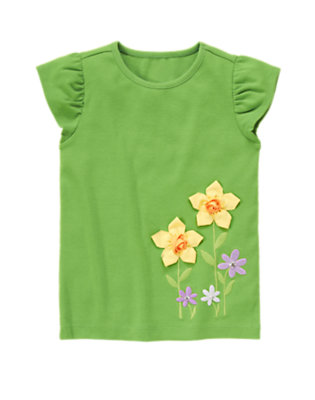 Spring Green Gem 3-D Daffodil Tee by Gymboree