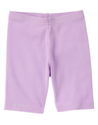 Girls Purple Posy Bike Short by Gymboree