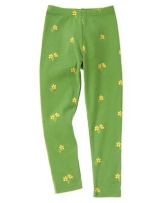 Girls Spring Green Daffodil Mini Daffodil Legging by Gymboree