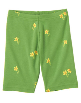 Girls Spring Green Daffodil Mini Daffodil Bike Short by Gymboree