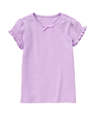 Purple Posy Ruffle Sleeve Tee by Gymboree