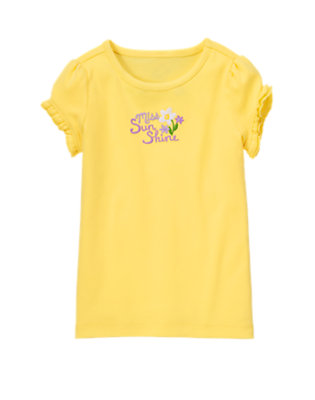 Daffodil Yellow Miss Sunshine Ruffle Sleeve Tee by Gymboree
