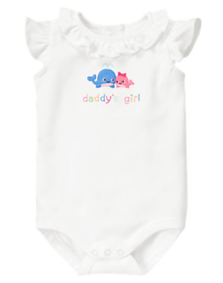 White Daddy's Girl Whale Bodysuit by Gymboree
