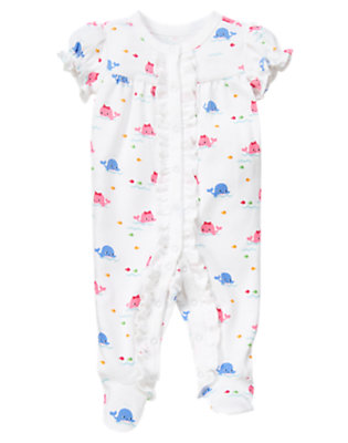 Whale Whale Short Sleeve Footed One-Piece by Gymboree