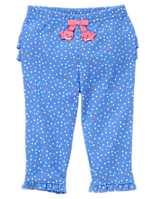Baby Blue Bubbles Dot Dot Whale Legging by Gymboree