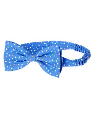 Blue Bubbles Dot Bow Dot Fruffle by Gymboree