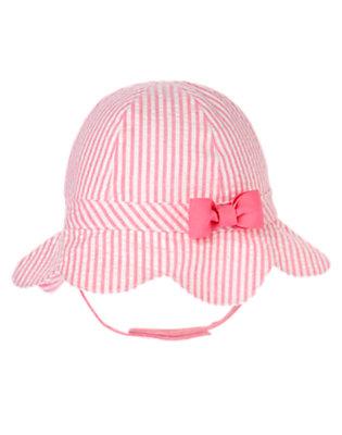 Bubblegum Pink Stripe Stripe Seersucker Hat by Gymboree