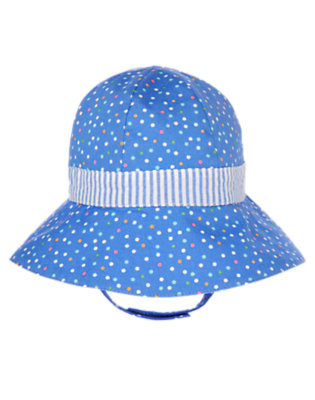 Blue Bubbles Dot Dot Stripe Hat by Gymboree