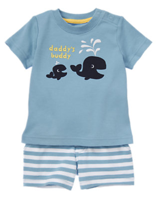 Baby Blue Whale Daddy's Buddy Whale Two-Piece Set by Gymboree