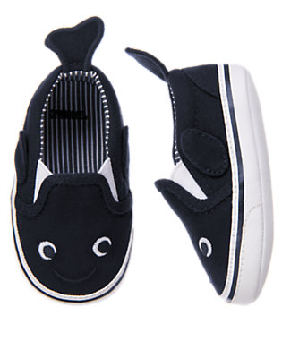 Baby Navy Whale Crib Sneaker by Gymboree