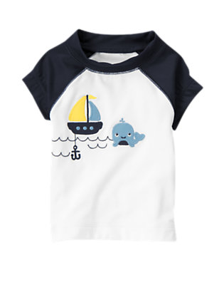White Whale Rash Guard by Gymboree