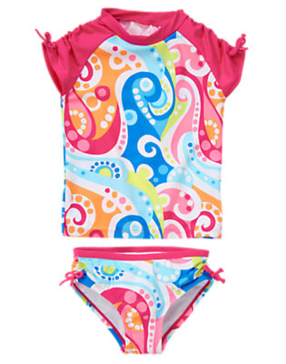 Rainbow Swirl Rainbow Swirl Rash Guard Set by Gymboree