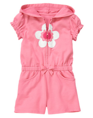 Bright Pink Flower Terry Romper Cover-Up by Gymboree