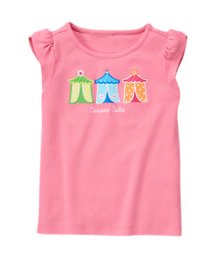 Sunny Pink Cabana Cutie Tee by Gymboree
