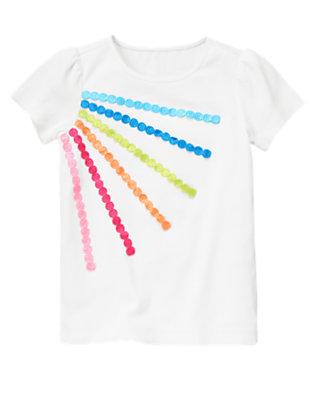 White Rainbow Dot Trim Tee by Gymboree