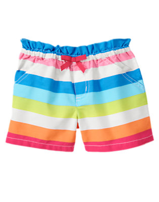 Girls Rainbow Stripe Rainbow Stripe Short by Gymboree