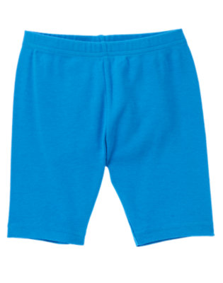 Girls Lagoon Blue Bike Short by Gymboree