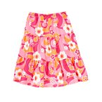 Flower Swirl Tiered Skirt