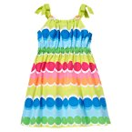 Rainbow Dot Stripe Dress