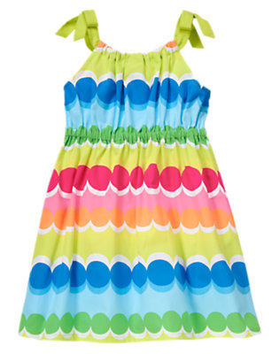 Girls Rainbow Dot Rainbow Dot Stripe Dress by Gymboree
