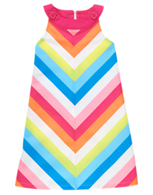 Girls Rainbow Stripe Chevron Stripe Dress by Gymboree