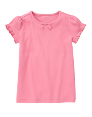 Sunny Pink Ruffle Sleeve Tee by Gymboree