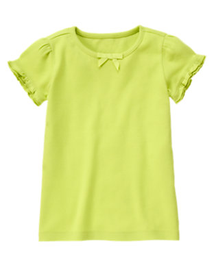 Green Limeade Ruffle Sleeve Tee by Gymboree