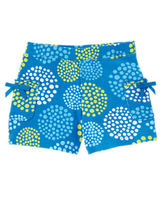 Girls Lagoon Blue Dot Dot Bow Pocket Short by Gymboree