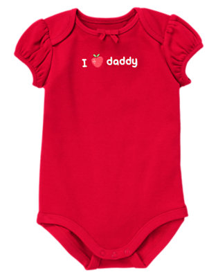 Baby Red I Heart Daddy Bodysuit by Gymboree