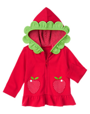 Baby Red Polka Dots Sweet Strawberry Cardigan by Gymboree