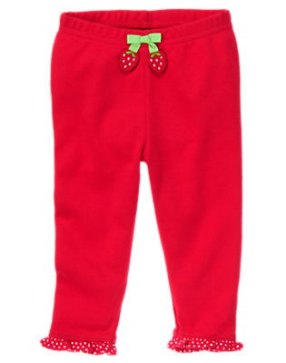 Baby Red Polka Dots Strawberry Leggings by Gymboree