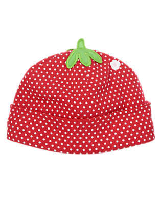Baby Red Polka Dots Strawberry Beanie by Gymboree