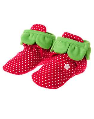 Baby Red Strawberry Crib Bootie by Gymboree