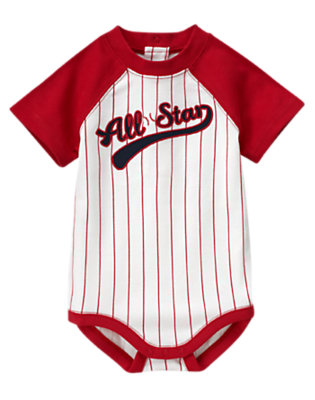 Baby Red All-Star Stripe Bodysuit by Gymboree