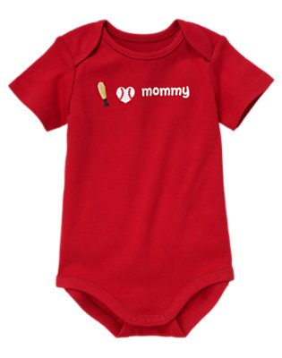 Baby Red I Heart Mommy Bodysuit by Gymboree