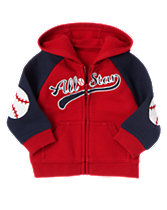 All-Star Fleece Zip Front Cardigan